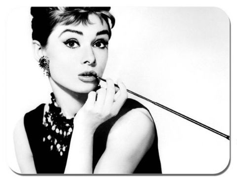 Audrey Hepburn Mouse Mat. Movie Film Quality Mouse pad